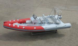 Aqualand 21.5m 6.5m 2017 Model Fiberglass Rigid Inflatable Boat/Rib Motor Fishing Boat (RIB650B) pictures & photos