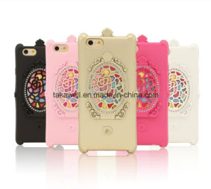Mobile Phone Accessories Manufacturer Fancy TPU Mirror Cell Phone Cover Cases for Samsung J2/J5/J7 with Stand Function pictures & photos