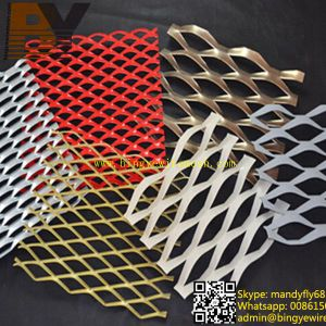 Aluminum Expanded Wire Mesh/Aluminum Expanded Metal Mesh//Aluminum Expanded Metal Sheet/Expanded Metal Mesh/Rhombic Shaped Expanded Mesh/Decorative Mesh pictures & photos
