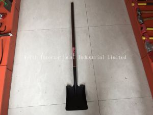 Long Wood Handle Square Shovel for Qatar pictures & photos