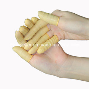 Yellow Color Antistatic ESD Rubber Finger Cots pictures & photos