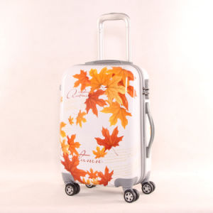 Maple Leaves Printing 3 PCS Luggage Set Best Travel Trolley Bags