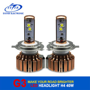 3600lm High Low Beam Car H4 LED Headlight Bulbs 40W/Each Bulb Car Styling with 6000k CREE LED Source pictures & photos