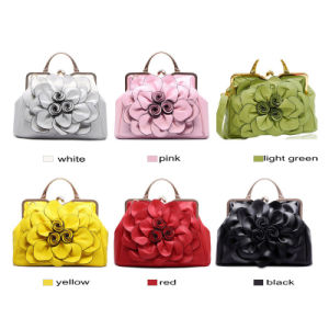 Handbags with Flower on Front of Handbag pictures & photos