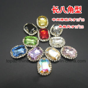 Sew on Rhinestone Cup Chain Crystal Stone (SW-rectangle 13*18) pictures & photos