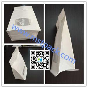 White Kraft Paper Flat Bottom Bag/Zipper Bag pictures & photos
