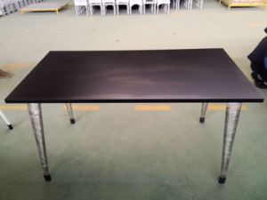 Hot Sale Modern Style Good Quality Stainless Steel Wood Stacking Dining Table pictures & photos
