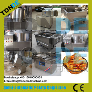 Semi Automatic Stainless Steel Electric Potato Chips Making Line pictures & photos