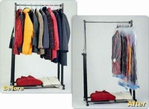 PA+PE Good Material Clothes Vacuum Bag with Hanger pictures & photos