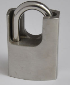 Stainless Steel Padlock with Shrouded Shackle-201 pictures & photos