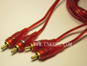 Audio Video Cable RCA Cable 2RCA Plug to 2RCA Plug (AV-040)