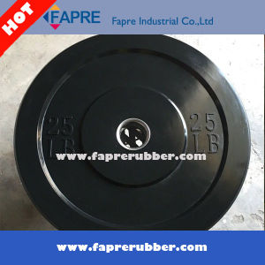 Black&Colored Crossfit Olympic Competition Rubber Bumper Weight Plates pictures & photos