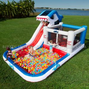 Shark Park Inflatable Bouncer, Slide with Water Pool H1001 pictures & photos