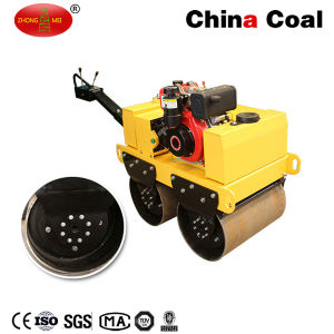 Hand Double Drums Diesel Walk Behind Vibratory Roller pictures & photos