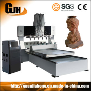 2D & 3D Table-Moving 4 Axis Engraving CNC Router pictures & photos