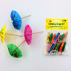Best Selling Cocktail Decorative Wood Parasol Picks