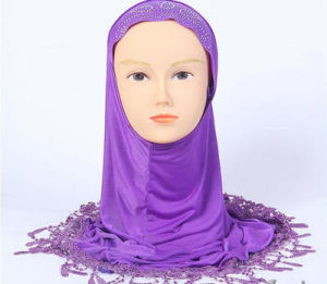 Wholesale Fashion Plain Color Closed Head Scarf Muslim Woman