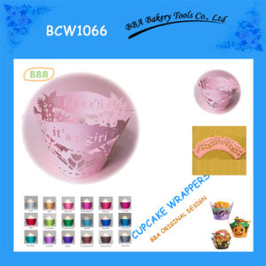 Pink and Lovely Cupcake Wrapper (BCW1066)