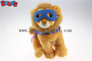 Plush Lion Toys Custom Stuffed Lion Animals with Eye Patch and Printing Logo Cloak Bos1136 pictures & photos