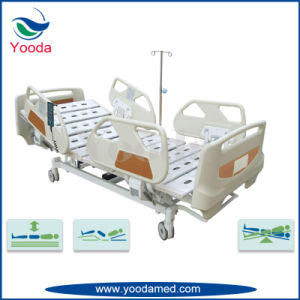 Five Function Medical Bed with Foldable Steel Side Rail pictures & photos