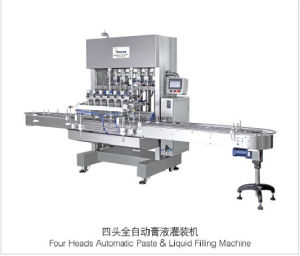 Four Heads Automatic Paste&Liquid Filling Machine
