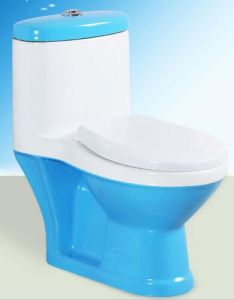 Blue Colorful One Piece Children Washlet Toilets for Kid pictures & photos