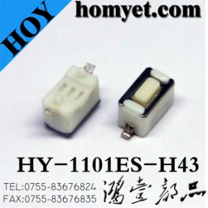 3*6mm SMD Tact Switch with White Color Body (HY-1101ES-H43) pictures & photos