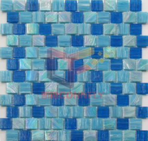 Blue Glass Rainbow Color for Pool Use Mosaic (CSJ147) pictures & photos