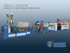 Aspii /Rcx Single Layer Sheet Extruder & Cup Thermoforming Line (tilting cup mould) pictures & photos