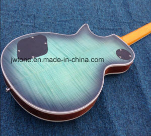 Arched Top Turquoise Color Real Abalone Inlay Les Lp Standard Guitarra Quality Electric Guitar pictures & photos