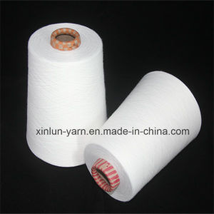 Virgin Polyester Spun Yarn for Knitting Sewing Thread Ne 45/1 pictures & photos
