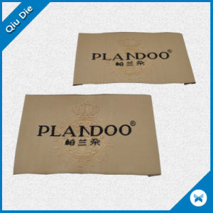 Custom High Quality Garment Brand Woven Damask Label pictures & photos