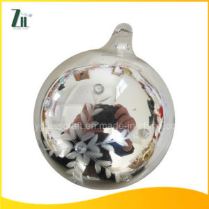 2016 Carved Silver Christmas Glass Ornament Ball pictures & photos