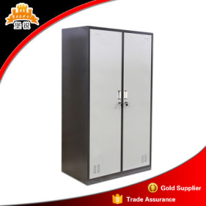 Powder Coating Home Workshop Furniture Metal Clothes Clothes Storage Cabinet Closet with Hanging Rod and Hook pictures & photos