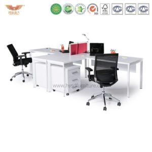 Melamine Office Workstation Desk with L Shape Return pictures & photos