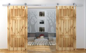Wooden Sliding Barn Door Hardware Ls-Sdu-2006 pictures & photos