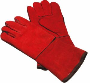 High Quality Safety Work Welding Gloves Heat Resistant Ce Certification pictures & photos
