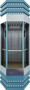 Kjx-G104 Rhombus Panoramic Elevator Sts pictures & photos