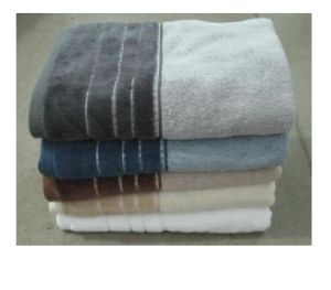 Yarn Dyed Towel With Shared Velour Border