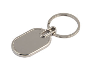 Promotional Silver Simple Competitive Metal Client Logo Key Tag (F1046) pictures & photos