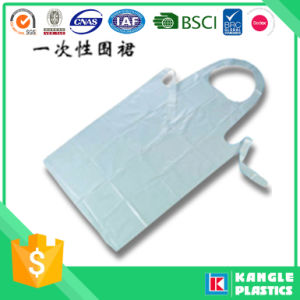 Polyethylene White Disposable Apron for Adults pictures & photos