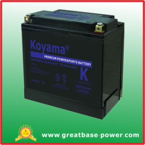 Golden Quality Motorcycle Battery 21ah 12V pictures & photos
