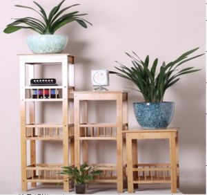 Bamboo Shelf Display Rack for Household (QW-JCSG003) pictures & photos