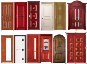 Modern Design Interior Solid Wood Door with Door Frame (SC-W097) pictures & photos
