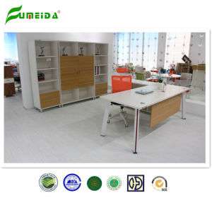 Wood Office Desk Connect by Double Steel Support Office Furniture pictures & photos