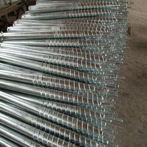 Good Quality Galvanized Q235 Helical Piers or Screw Piles pictures & photos