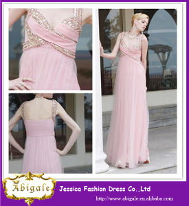 2014 Chiffon Long Sweetheart Wedding Pink One Shoulder Long Bridesmaid Dress