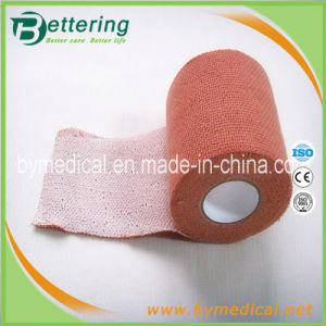 Brick Red Elastoplast Cloth Elastic Adhesive Strapping Bandage pictures & photos