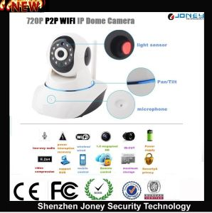 Low Cost Dome Onvif 720p P2p Wireless WiFi IP Camera with 2 Way Audio, SD Card Slot pictures & photos