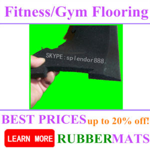 Rubber Gym Flooring Crossfit Border and Ramps Edges pictures & photos